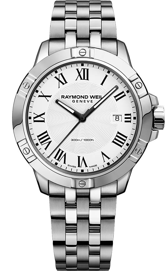 Raymond Weil Tango White Dial 41MM Steel Quartz Watch 8160-ST-00300