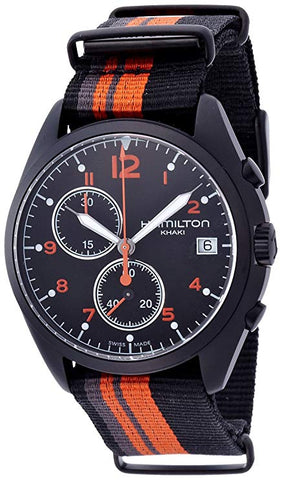 Hamilton Khaki Aviation Pilot Pioneer Black Dial Fabric Band Men's Watch H76582933