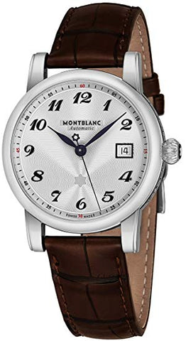 Montblanc Star White Dial Brown Strap Men's Watch 107315