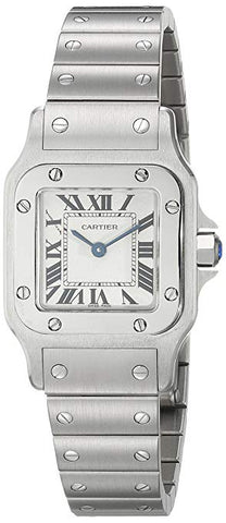 Cartier Santos 24X24MM Stainless Steel Casual Women's Watch W20056D6
