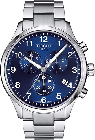 Tissot Men's Chrono Blue Dial 45MM XL Classic Men's Watch T1166171104701