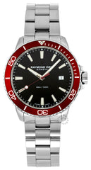 Raymond Weil Tango 42MM Black Dial Rotating Bezel Watch 8260-ST4-20001