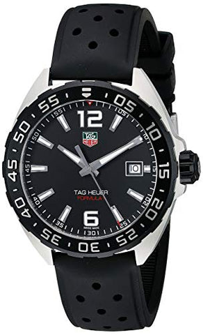 Tag Heuer Formula 1 Stainless Steel with Black Band Men's Watch WAZ1110.FT8023