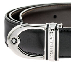 Montblanc Classic Line Round Men Black and Brown Reversible Belt 9693