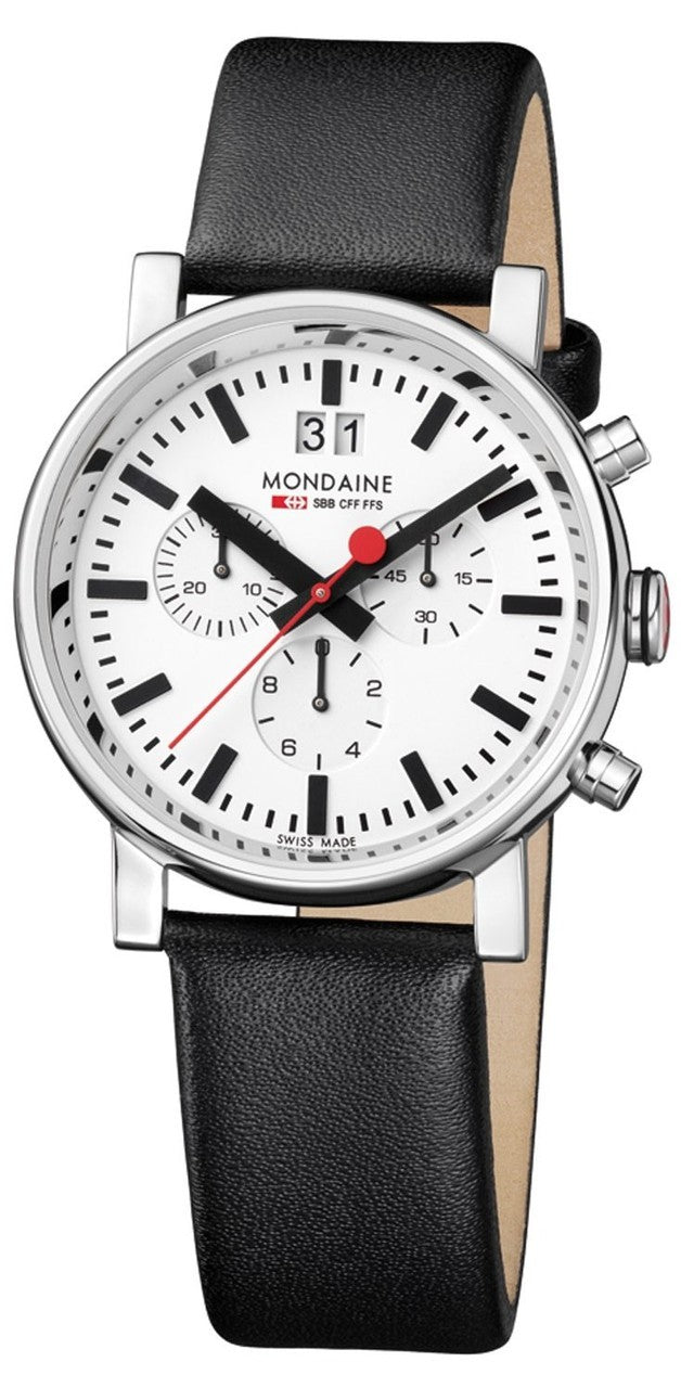 Mondaine A690.30304.11SBB Evo Big Chronograph Leather Men's Watch