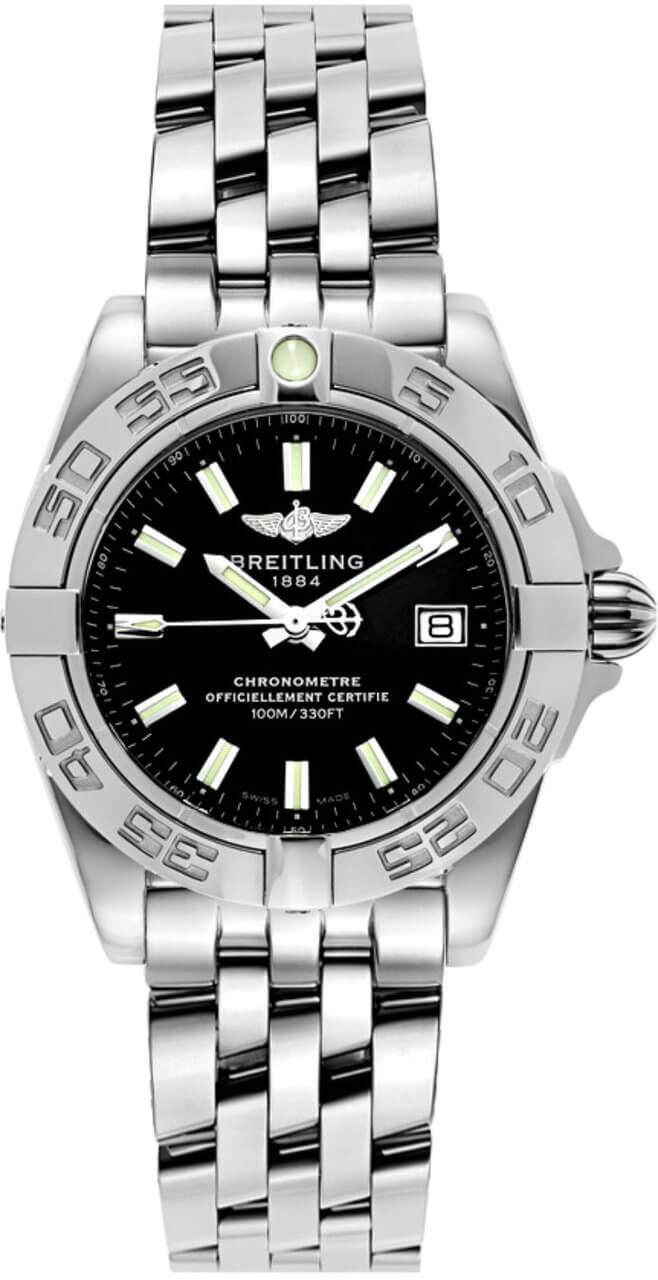 Breitling Galactic 32 Black Dial Auto Women Watch A71356L2/BE76/367A