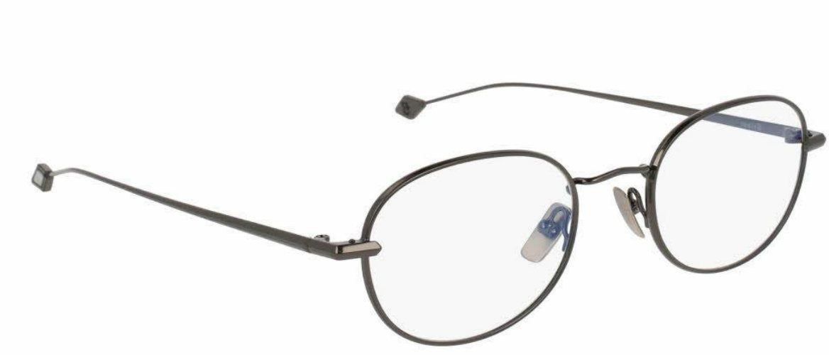 Brioni Dark Ruthenium Metal Oval Men Optical Frame Eyewear BR0028O-003