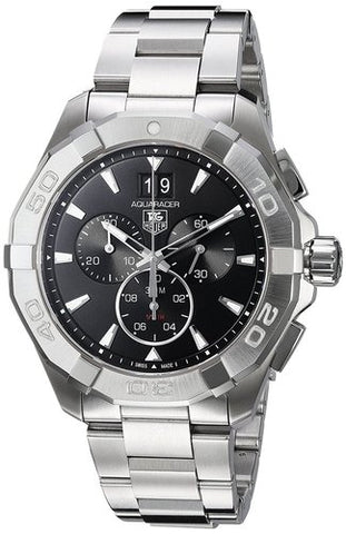 Tag Heuer Aquaracer Chronograph Black Dial 43MM Watch CAY1110.BA0927