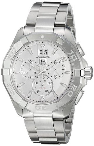 Tag Heuer Aquaracer Chronograph Silver Dial 43MM Watch CAY1111.BA0927