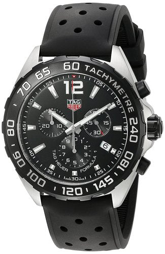 Tag Heuer Formula 1 Chrono Perforated Rubber Men Watch CAZ1010.FT8024