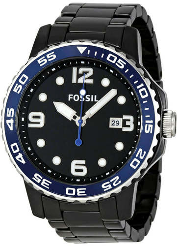 Fossil Black Ceramic Black Dial Men's Watch CE5010