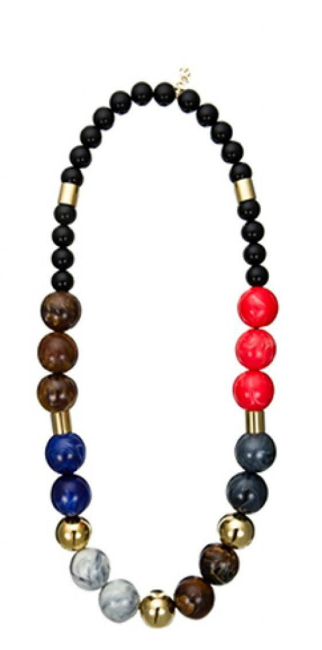 D & G Dolce & Gabbana Over Me Multicolor Balls Women Necklace DJ0867