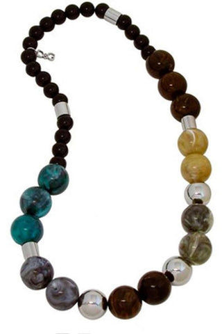 D & G Dolce & Gabbana Over Me Multicolor Balls Women Necklace DJ0870