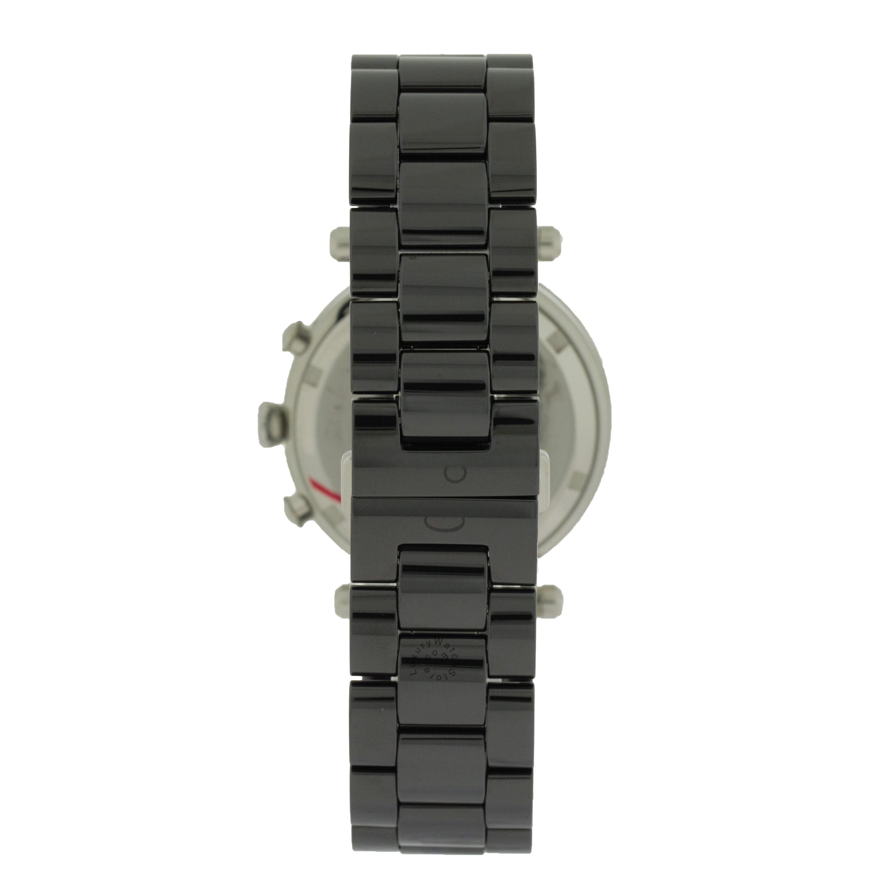 Guess GC Black Dial Black Ceramic Quartz Women Watch G43001M2