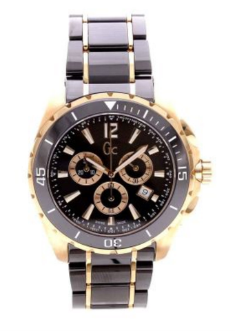 Guess Sport Class XXL Chronograph 45 Black Ceramic Men Watch G76004G2