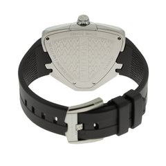 Hamilton Ventura Elvis80 Asymmetric Black Rubber Men Watch H24551331