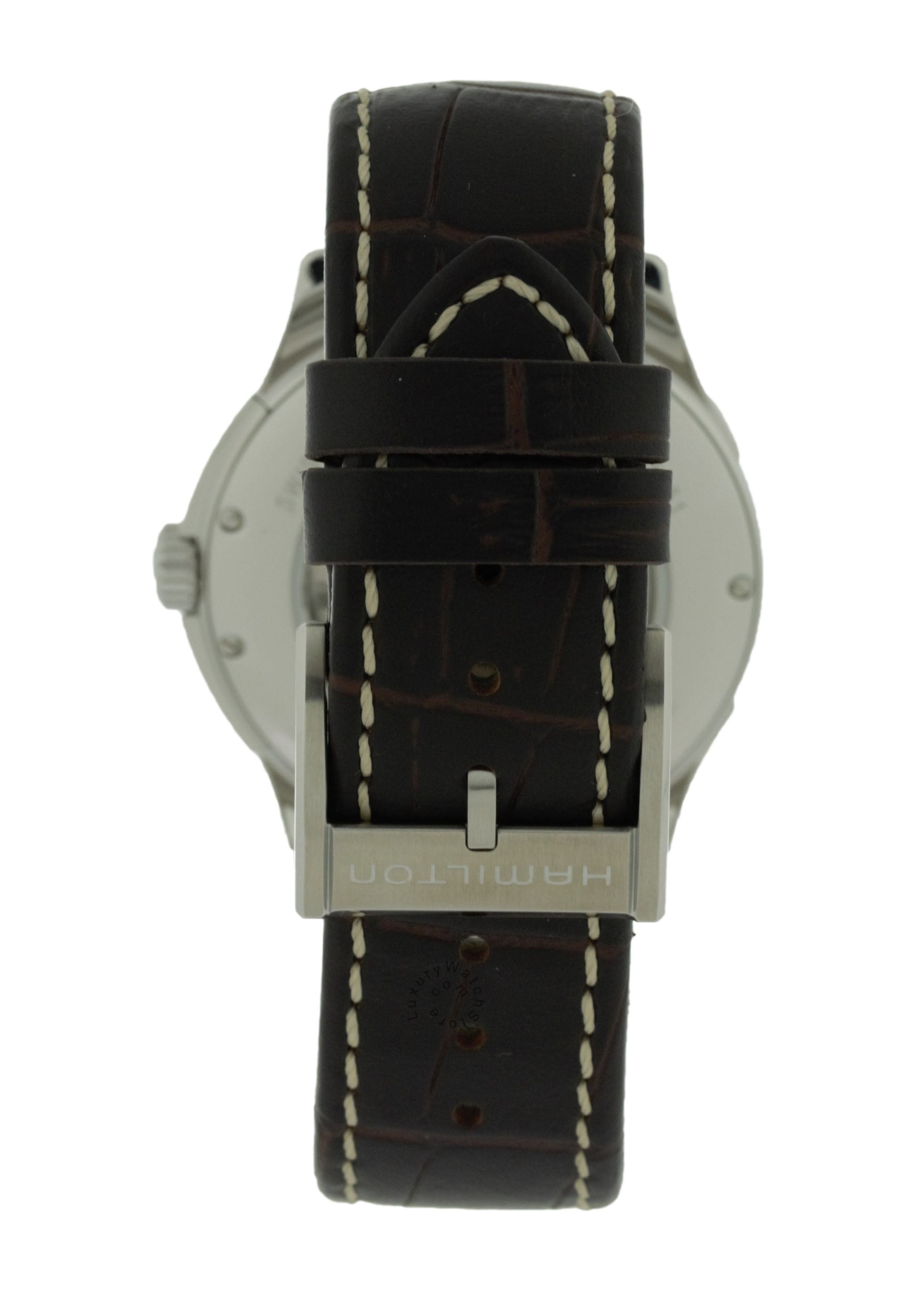 Hamilton Jazzmaster Viewmatic Black Dial Brown Leather Watch H32515535