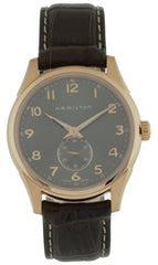 Hamilton Jazzmaster Thinline Small Second Leather Men Watch H38441583