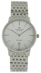 Hamilton Intra-Matic Silver Dial Steel Automatic Men Watch H38755151