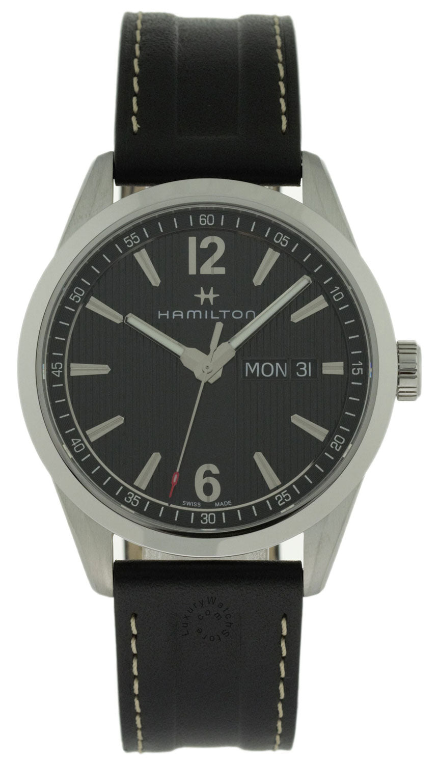 Hamilton Broadway Day Date Black Line Dial Leather Men Watch H43311735