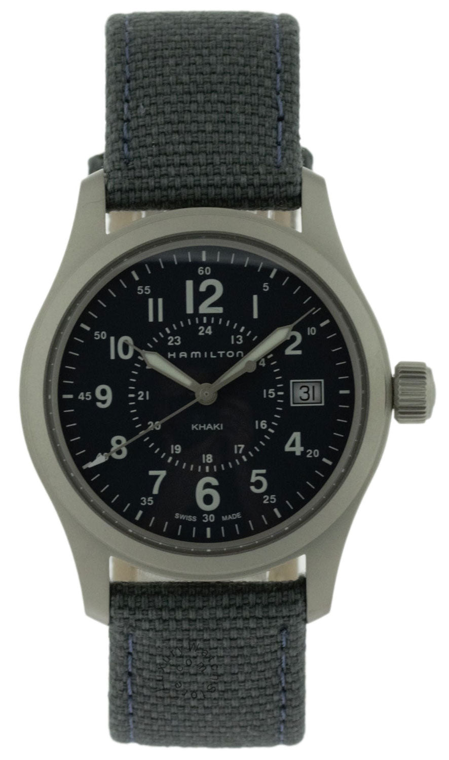 Hamilton Khaki Field 38MM Blue Dial Blue Canvass Men's Watch H68201943