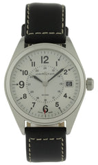 Hamilton Khaki Field Silver Dial Black Leather Men's Watch H68551753