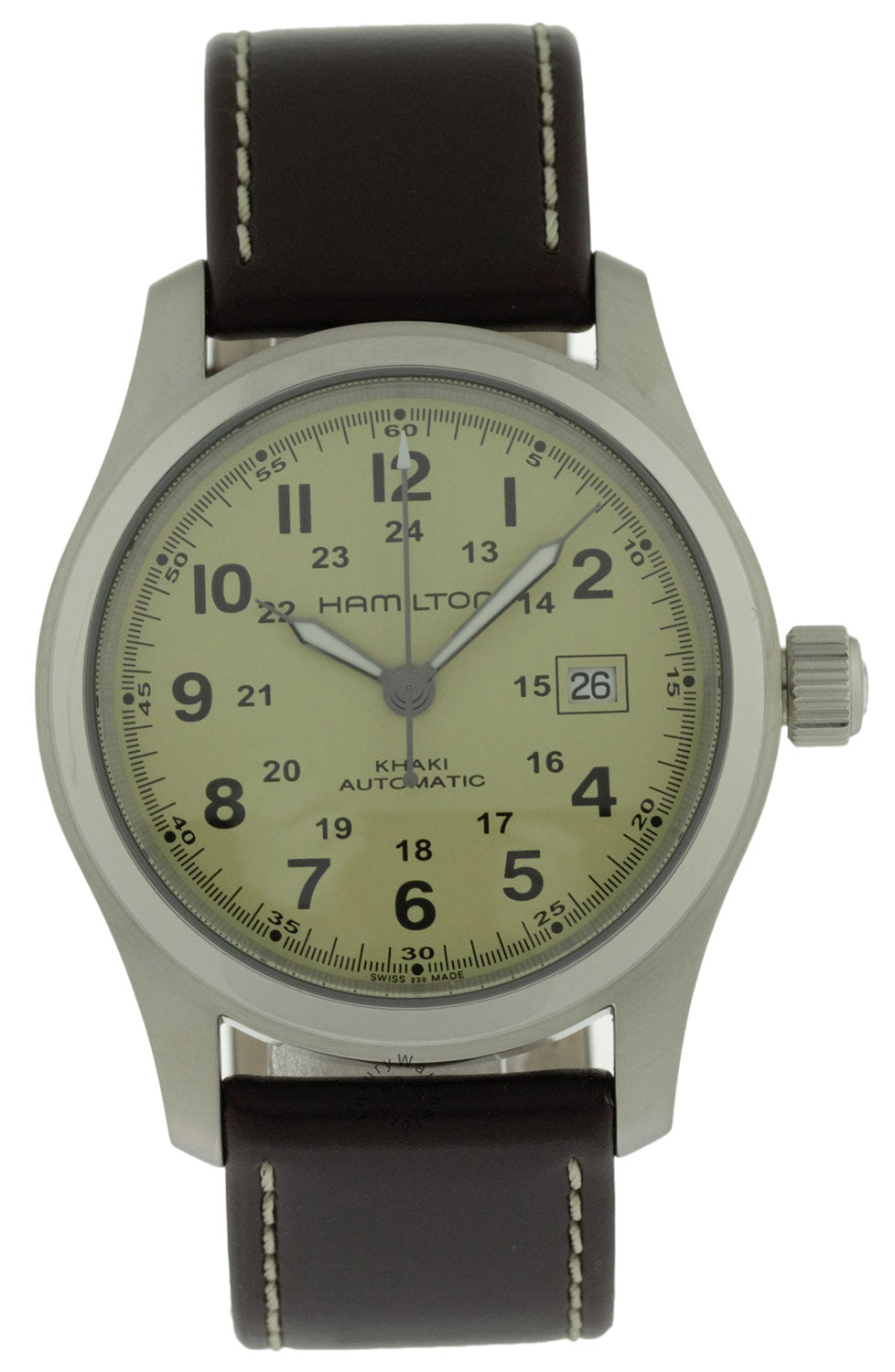 Hamilton Khaki Field Beige Dial BRN Leather Automatic Watch H70555523