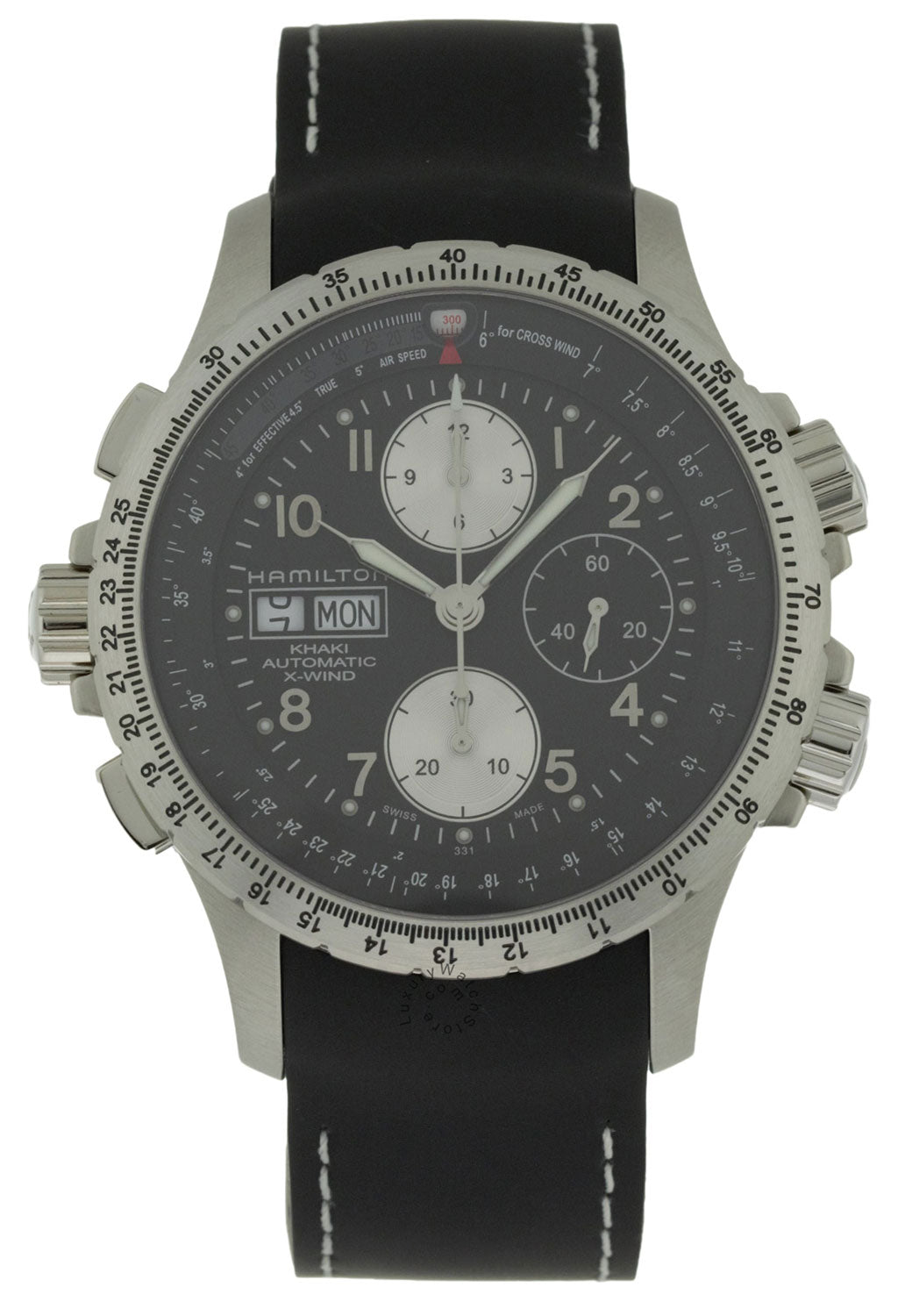 Hamilton Khaki X-Wind Auto Chronograph Rubber Men's Watch H77616333