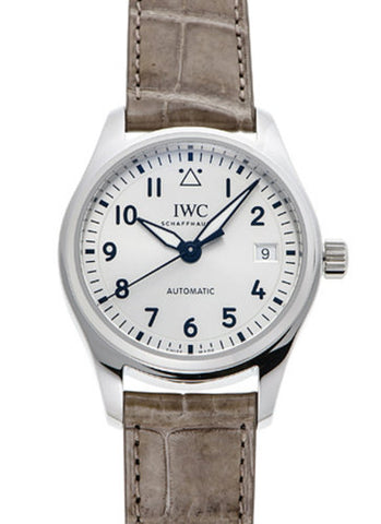 IWC Pilots MED Silver Dial Automatic Leather Watch IW324007 | IW324005