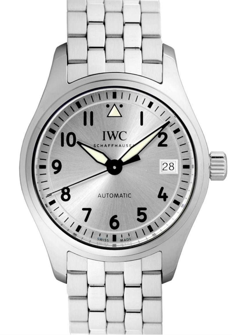 IWC Pilot 36 Silver Dial Steel Bracelet Swiss Automatic Watch IW324006