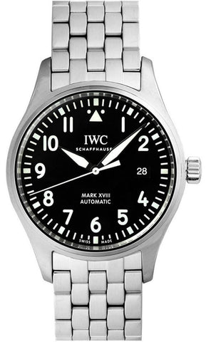 IWC Pilot Mark XVIII Matte Black Dial SS Automatic Men Watch IW327011