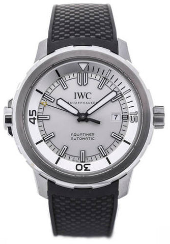 IWC Aquatimer Automatic Silver Dial Black Rubber Men's Watch IW329003