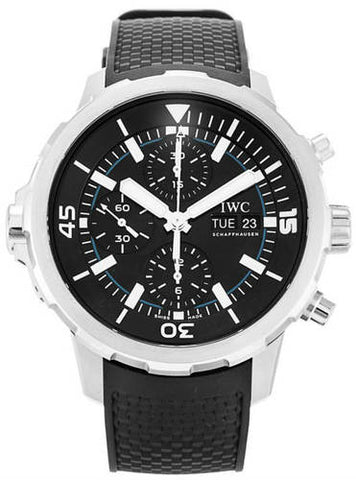 IWC Schaffhausen Aquatimer Chronograph Black Dial Mens Watch IW376803
