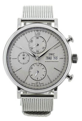 IWC Portofino Chronograph Silver Dial Automatic SS Men Watch IW391009