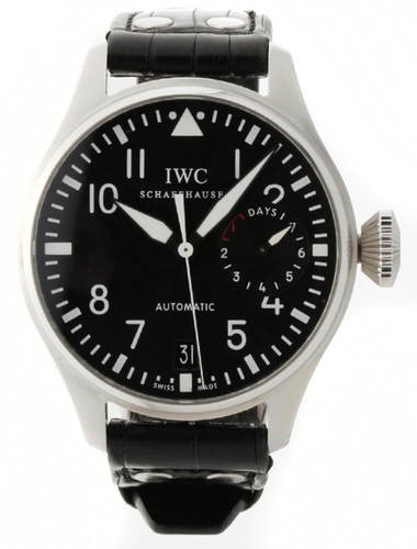 IWC Big Pilot Black Dial Black Leather Automatic Men Watch IW500401