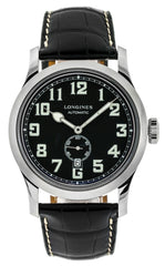 Longines Heritage Military 44mm Automatic SS Alligator Watch L28114530