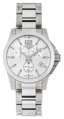 Longines Conquest 41mm Quartz Chronograph SS Men's Watch L36604766