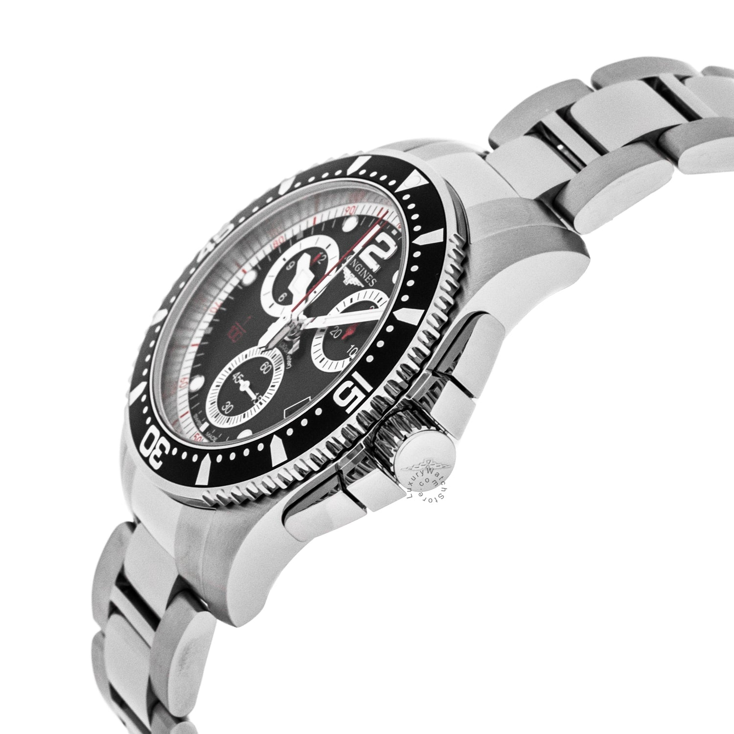 Longines HydroConquest 41mm Quartz Chrono SS Men's Watch L37434566