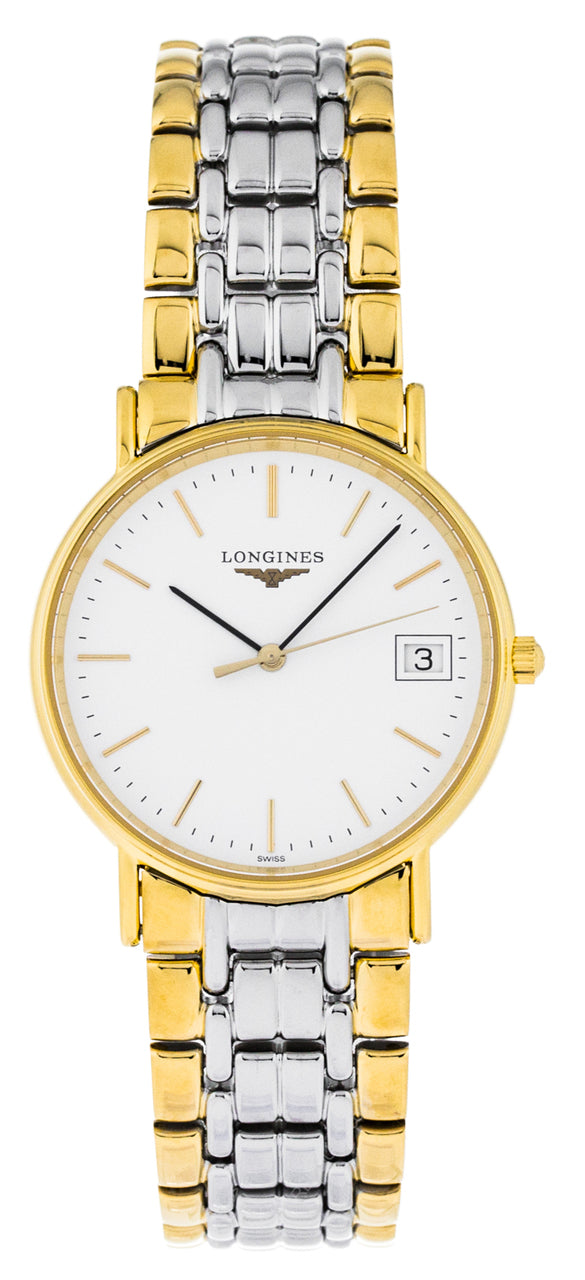 Longines Presence 35mm White Dial Two-Tone Men's Watch L47202127