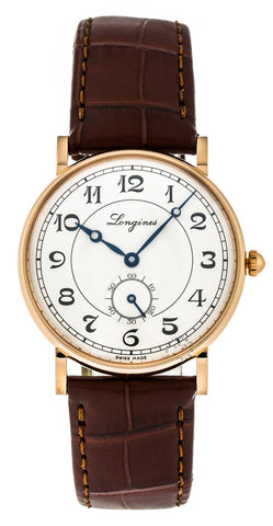 Longines Presence Heritage 34mm 18k Pink Gold Auto Watch L47678732