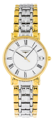 Longines Presence 33mm Quartz Two-Tone Stainless Steel Watch L48192117