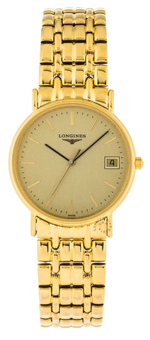 Longines Presences 33mm Quartz Yellow PVD Coating Watch L48192328