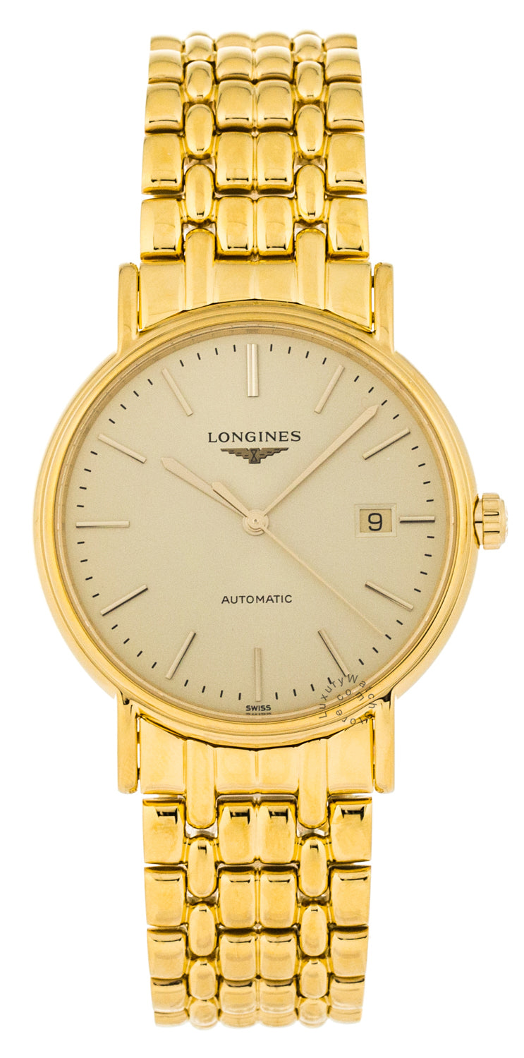 Longines Presence 38.5mm Automatic PVD Coating Watch L49212328