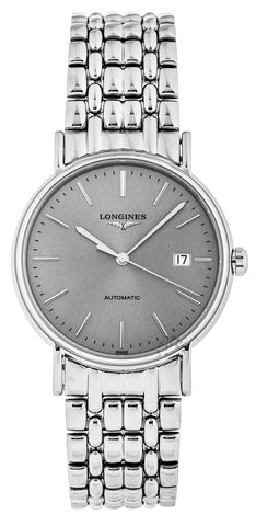 Longines Presence 38.5mm Automatic Sunray Steel SS Watch L49214726