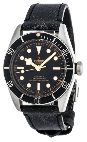 Tudor Heritage Black Bay 41MM Aged Leather Strap Men Watch 79230N-0001