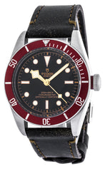Tudor Heritage Black Bay 41 Burgundy Disc Leather Watch 79230R-0005