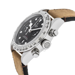 Tudor Heritage Black Bay 41 Chronograph Leather Strap Watch 79350-0002