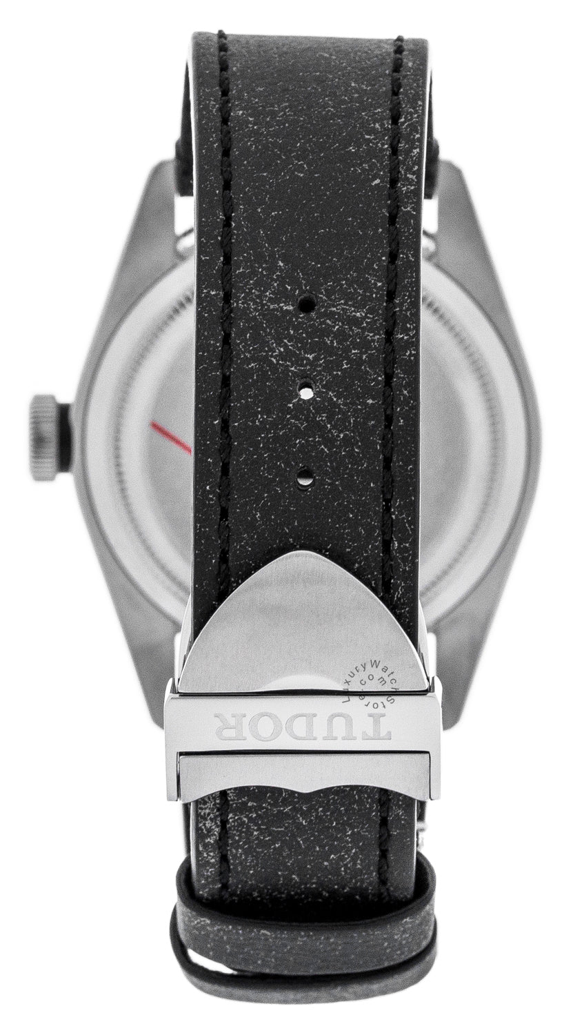 Tudor Heritage Black Bay 41 Aged Black Leather Strap Watch 79730-0003
