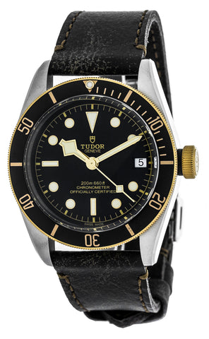 Tudor Heritage Black Bay 41 Aged Brown Leather Strap Watch 79733N-0001