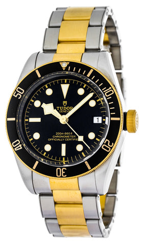 Tudor Heritage Black Bay 41 Black Dial Two Toned SS Watch 79733N-0002